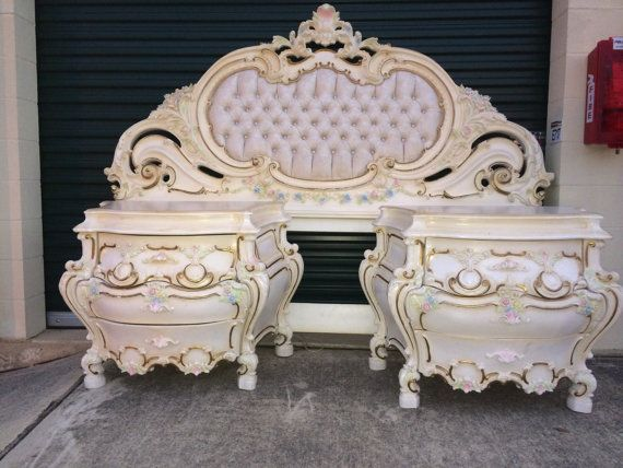 Vintage French Provincial King Sized Bedroom Set By