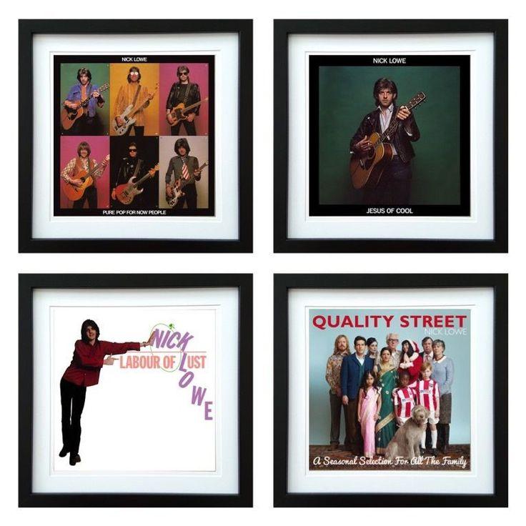 Nick Lowe | Framed Album Art Set of 4 Images | ArtRockStore