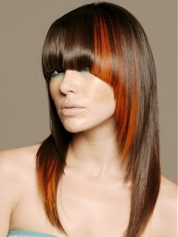 Thinking of edging out my long hair with a pop of color