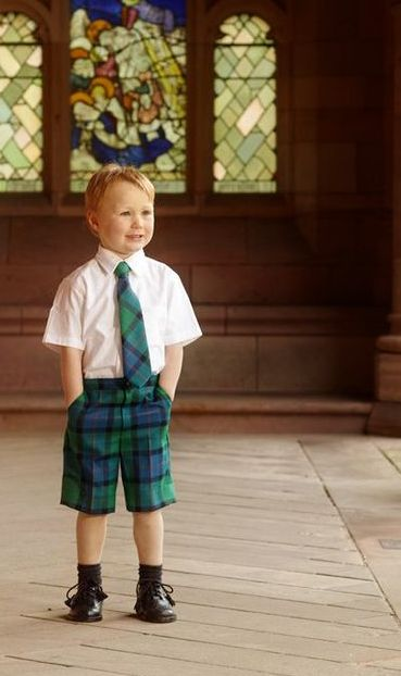 Dressed in tartan for a special occasion