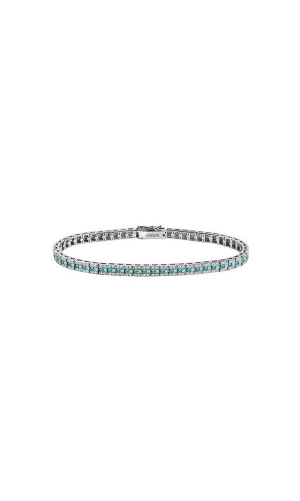Belle Époque white gold, diamonds and emeralds bracelet