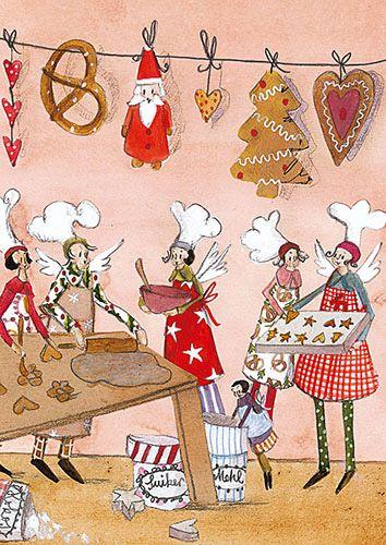 Weihnachts - Postkarte Silke Leffler / PK 21337