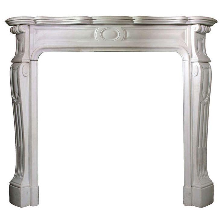 1stdibs.com | 19th C. Louis XV Pompadour Style Statuary Marble Mantel