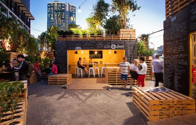 The Urban Coffee Farm is an installation at the Melbourne Food and Wine Festival which aims to connect coffee drinkers to the process and story behind their beloved coffee while also providing a central hub for the festival.