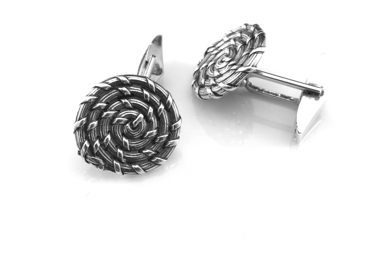 From the Bulls Bay Collection, by Sweet Charleston Designs:  Custom Crafted Cuff Links with our Famous Sweet Grass Basket Look!