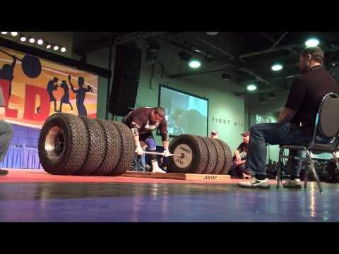 New World Record for Deadlift set at the Arnold Classic 2012 1,117 pounds    Now that is amazing!