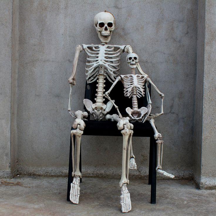 165センチ恐怖ハロウィーンの小道具お化け屋敷部屋脱出人工人間スケルトンモデルフレーム墓襲撃大人の頭蓋骨