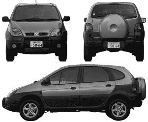 Renault Scenic RX4 templates views