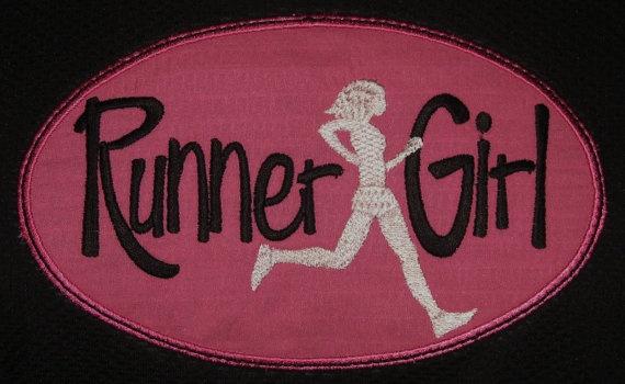 Runner Girl applique sport tee technical by suestevepat on Etsy, $24.00
