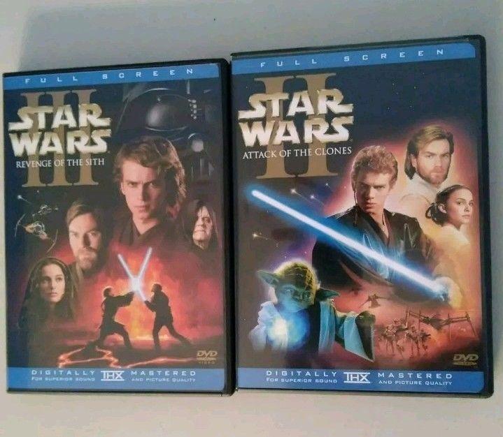 Star Wars Dvd Set Ii Iii 4 Discs Digitally Mastered 2 And 3 Full Screen Star Wars Dvd Star Wars Episode Iv Star Wars Dvds
