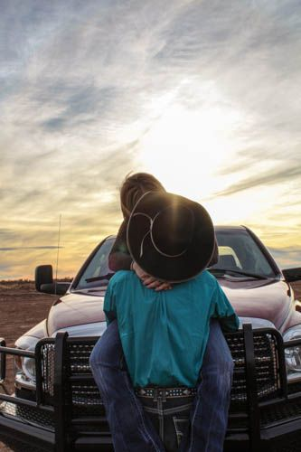 Country couple picture with truck. ❤️