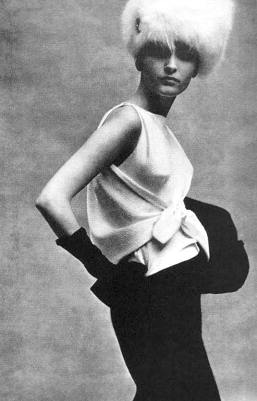 pinterest.com/fra411 #60's - Ensemble by Balenciaga, photo by Karen Radkai, Vogue 1963