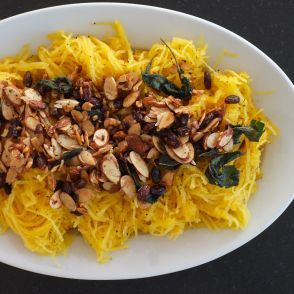 Roasted Spaghetti Squash with Almonds  Cinnamon & Sage by Jessica Seinfeld