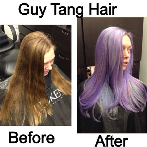 lilac lavender from light brown hair by guy tang
