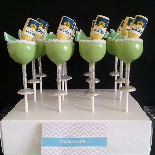 Coronarita Cake Pops with Alcohol