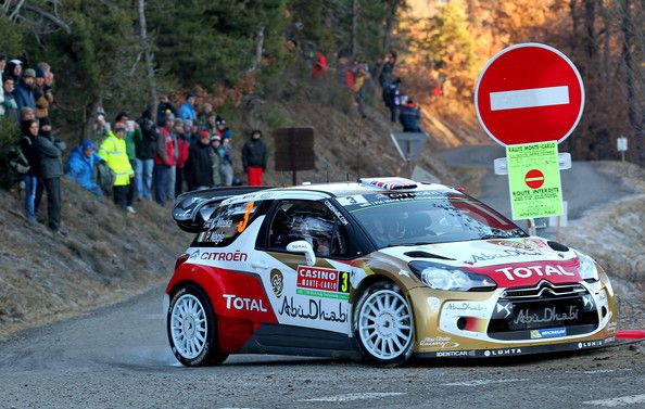 WRC 2014 Kris Meeke of Great Britain and Paul Nagle of Ireland compete in their Citroen Total Abu Dhabi WRT Citroen DS3 WRC during the Shakedown of t...