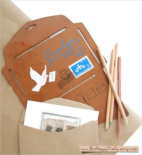 Japanese DIY Card Craft ENVELOPE TEMPLATE Antique by BeHappyDaily, $9.90