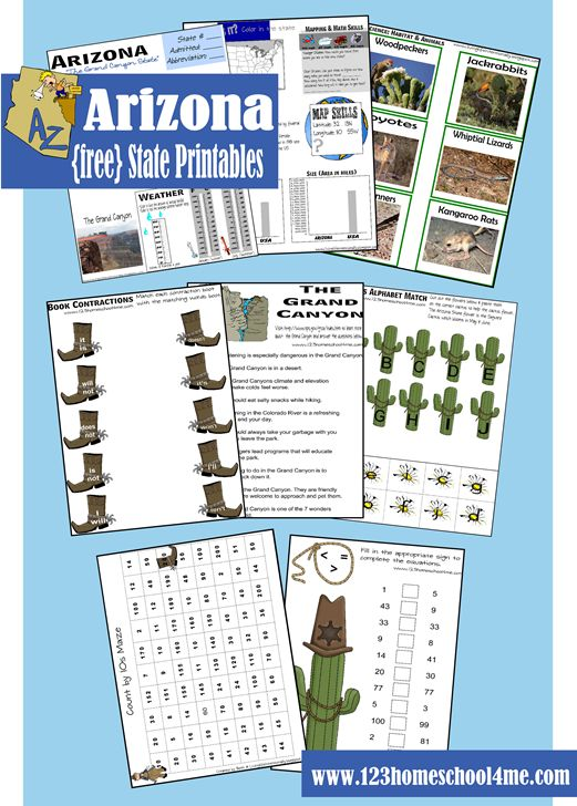 FREE Arizona Worksheet Printable Pack