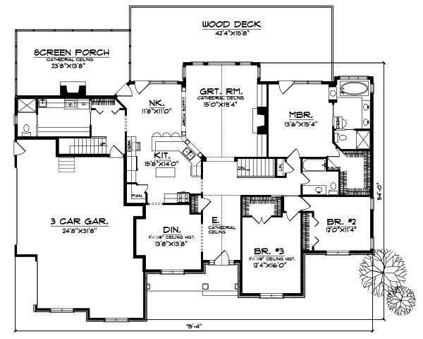 Craftsman style house plans 2370 square foot home 1 for 1 5 story craftsman house plans