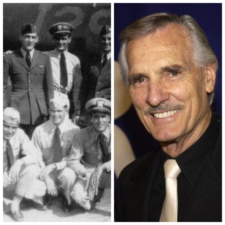Dennis Weaver-Navy-WW2-served as a pilot (Actor) photo:middle of back row