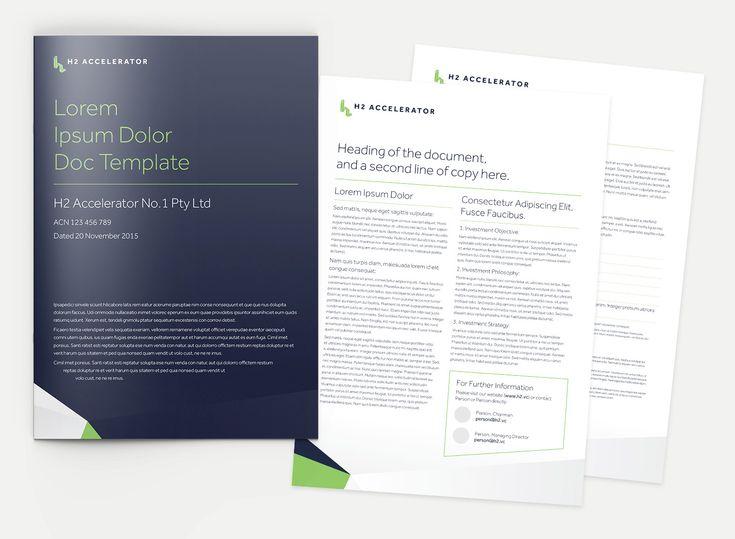 H2 Ventures Document Templates - design by Theysaurus