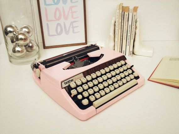 Pink Typewriter Brother Deluxe 900 Fully Working by ModernLifeArt