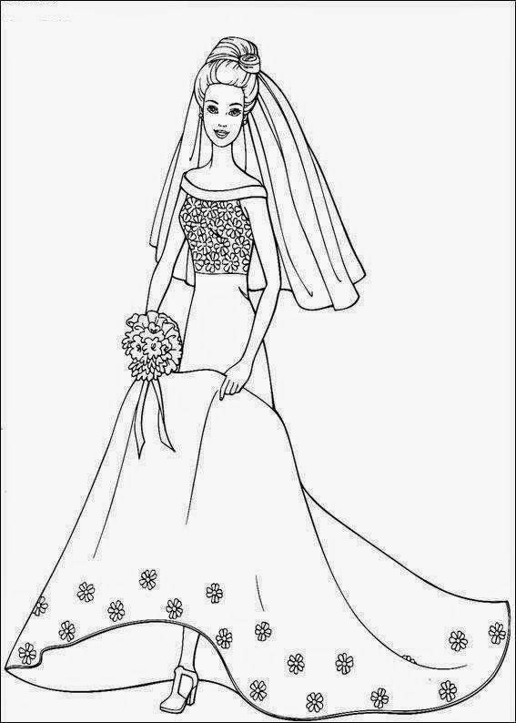 Desenho Noivos Para Colorir Pesquisa Google Vestido De Noiva