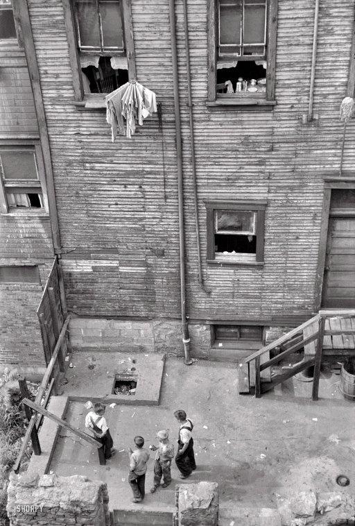 Rear Window: 1938..: July 1938, Arthur Rothstein, Rothstein Slums, Historical Photo, The Farms, Vintage Photography, Pennsylvania, Pittsburgh History, Rear Window