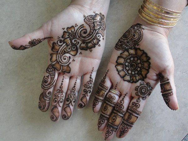 Henna Designs On Palm: Henna Diagonal Palm Design