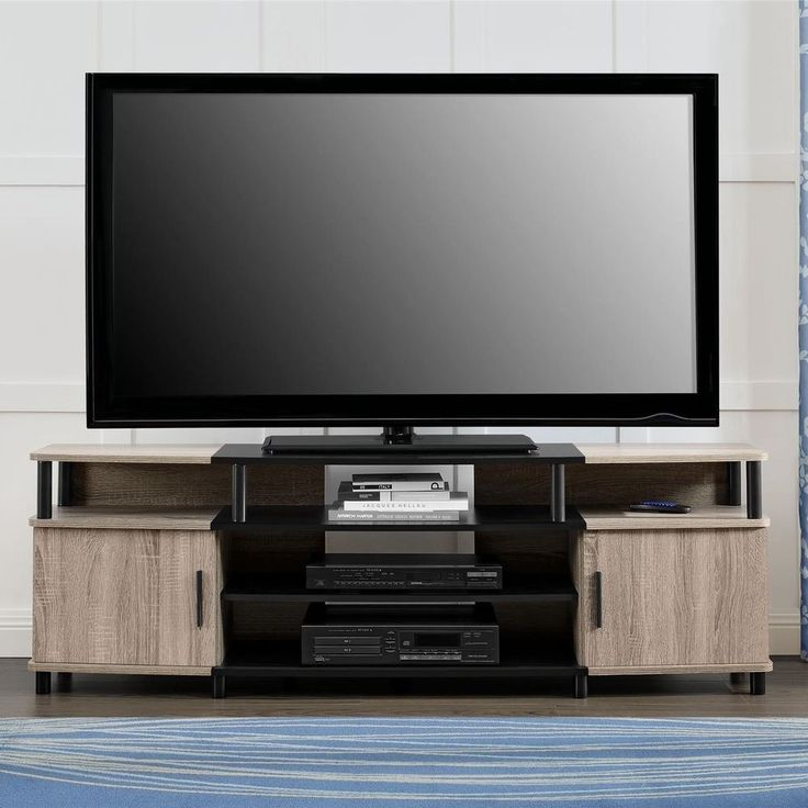 70 Inch TV Stand Entertainment Center Media Storage W Cabinets N Shelves New #AltraDexter #ContemporaryModernTransitional #TvStand #Storage #Cabinets #Shelves