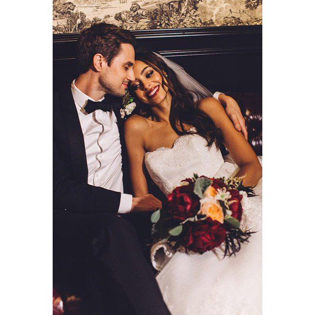 Pin for Later: The Best Celebrity Weddings of 2014! Amber Stevens and Andrew J. West