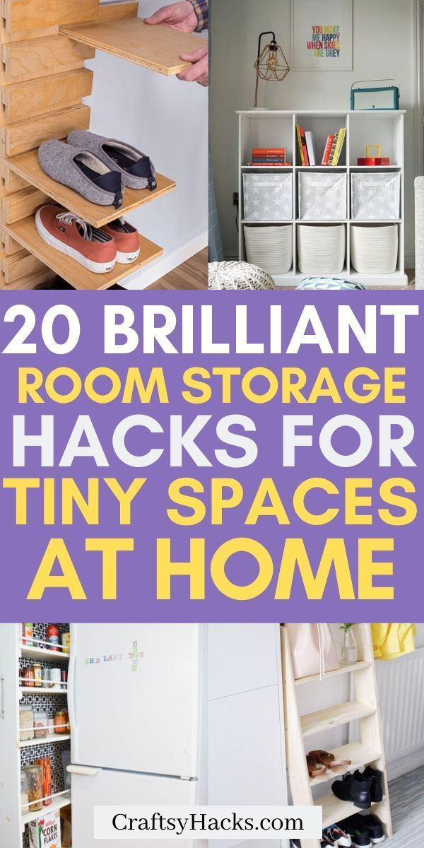 20 Practical Storage Ideas For Small Spaces In 2020 Storage Room Organization Small Room Storage Kitchen Cabinet Organization