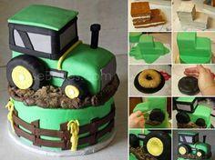 Le tutoriel du gâteau tracteur ;) • Quebec echantillons gratuits http://www.quebecechantillonsgratuits.com/articles/le-tutoriel-du-gateau-tracteur.html