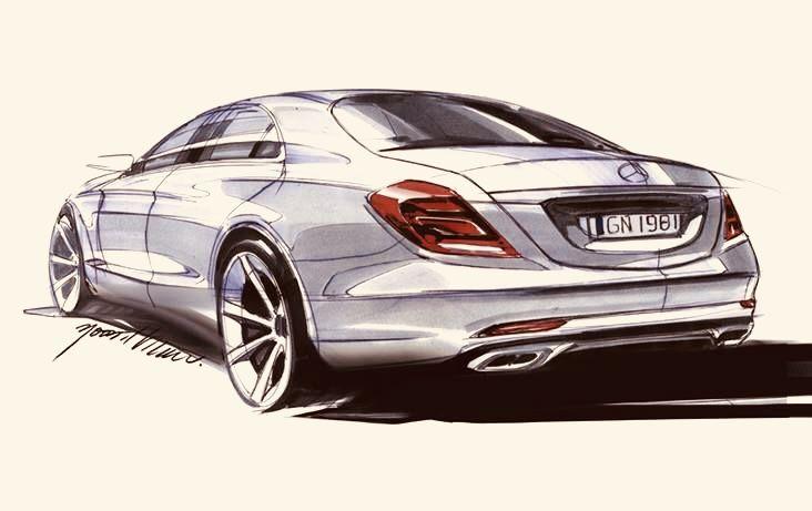 Mercedes Benz Art Sketches Drawings Art Etc Auto Zeichnen