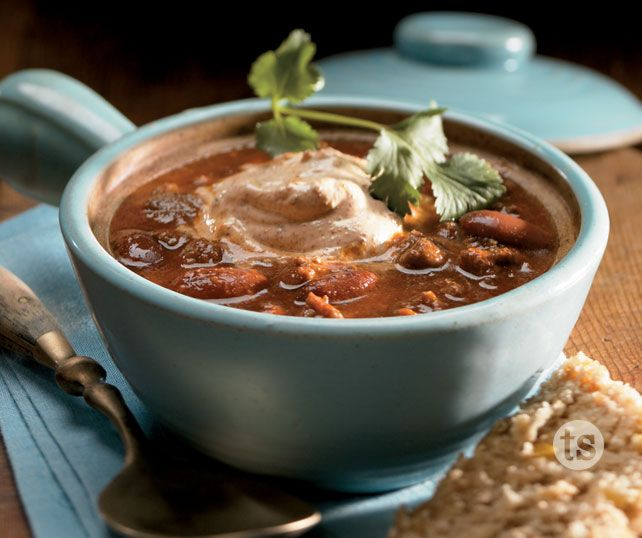 Need a quick dinner idea?  Try this savory, spiced chili and sit back and wait for all the compliments!