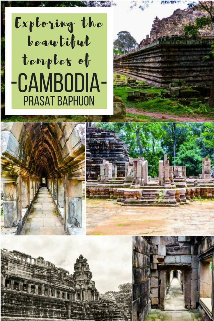 After spending the first part of our day at Angkor Wat, we move on and walk through Cambodia's Prasat Baphuon or Baphuon Temple as its commonly known.