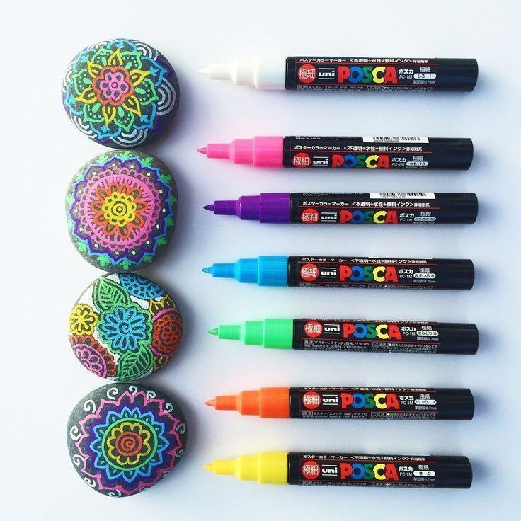 Consejos y herramientas para dibujar sobre rocas • Color hecho feliz