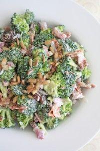 Broccoli Salad with bacon, onion, raisins, and sunflower seeds...                                                                                                                                                                                 Mais