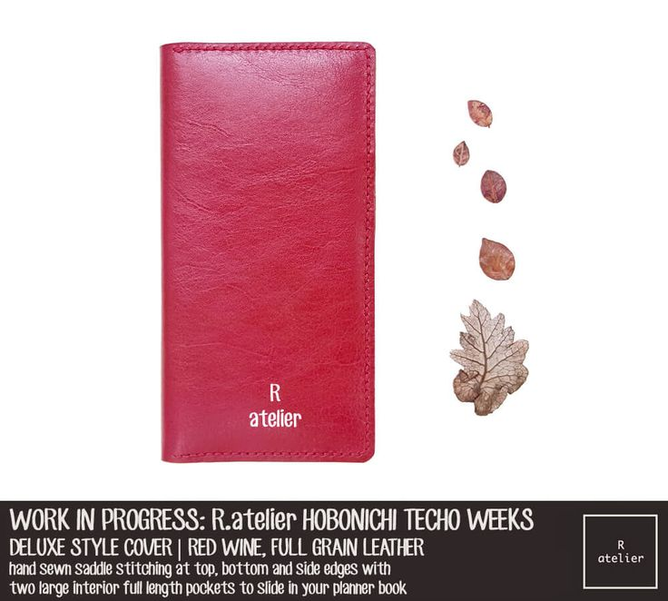R.atelier Red Wine Hobonichi Techo Weeks Leather Planner Cover