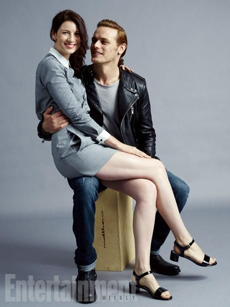 Sam Heughan and Caitriona Balfe at San Diego Comic-Con #SDCC2015 ~ Entertainment Weekly