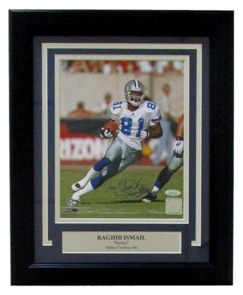 Raghib Rocket Ismail Signed Framed Dallas Cowboys 8x10 Photo TriStar