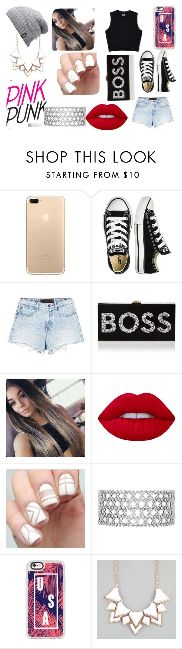 """""""I am Hungary"""" by beckareka on Polyvore featuring Converse, Alexander Wang, Milly, Lime Crime, Casetify, Full Tilt and The North Face"""