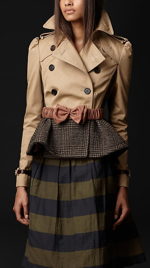Cotton Tweed Heritage Jacket   Burberry