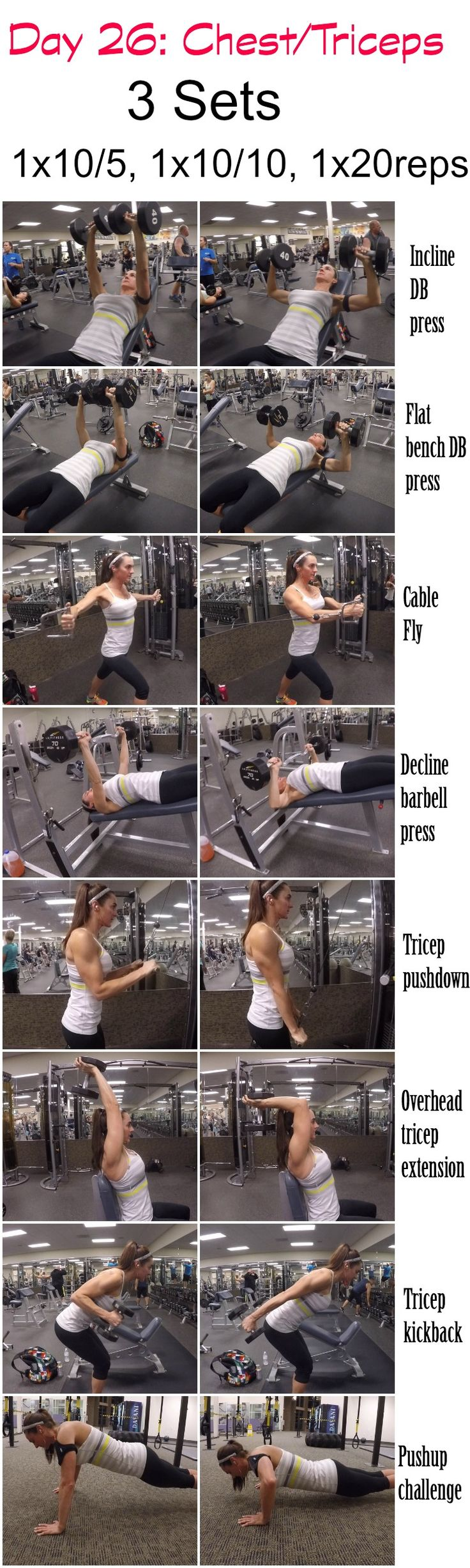 28 Days 2 Shred: Day 26-Chest/Triceps | Fitness Food Diva