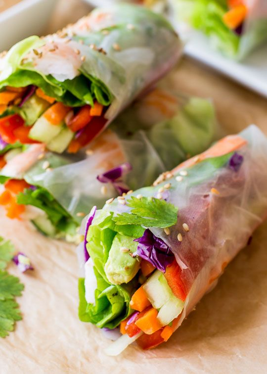 30 Perfect Beach Snacks | Fresh Summer Rolls with Peanut Dipping Sauce