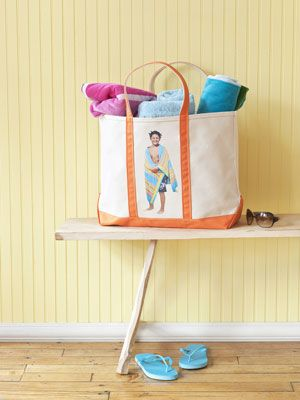 Make your own tote bags for summer, it's easier than you think #diy
