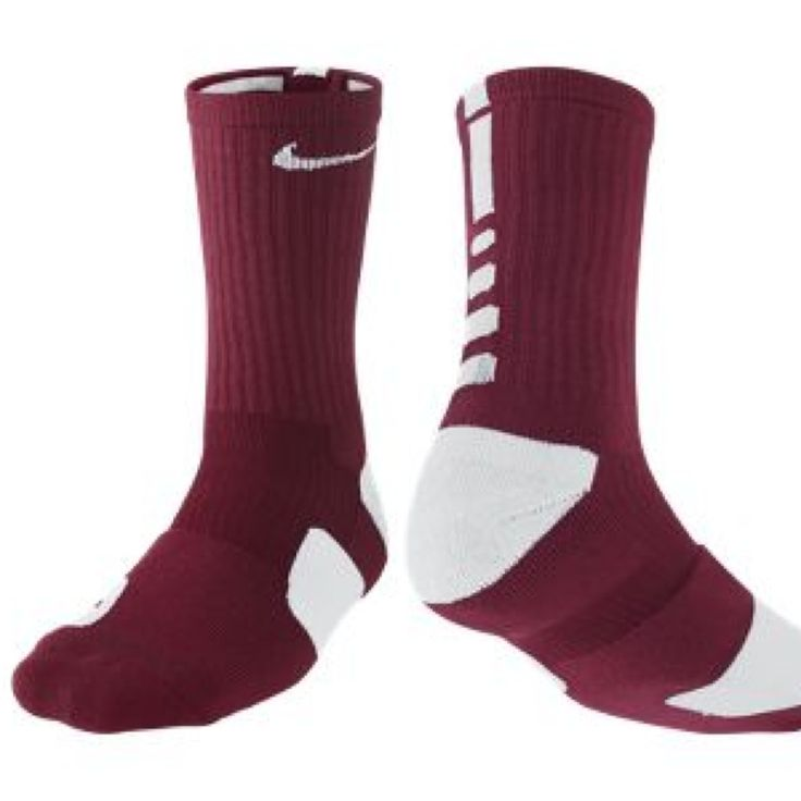 Nike Elite socks maroon