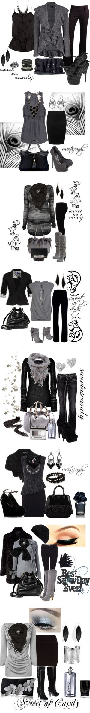 """""""Black, Gray, and Charcoal"""" by sweetlikecandycane on Polyvore!!! Cant go wrong with these!!!"""