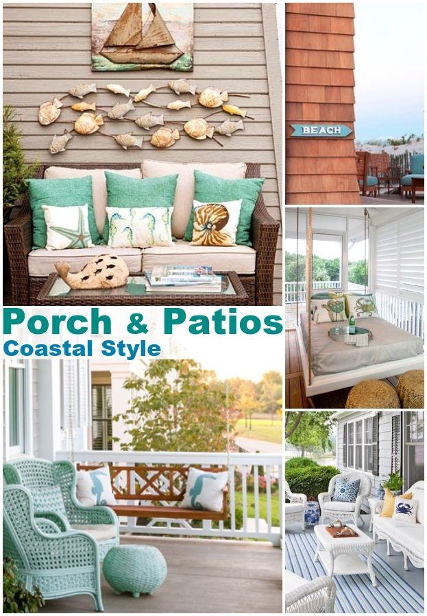 coastal beach style porch patio ideas