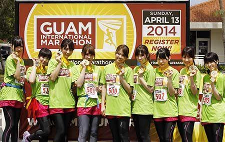 AKB48マラソン部のメンバー(グアムインターナショナルマラソン提供) ▼14Apr2014日刊スポーツ AKB48マラソン部 グアムマラソンでフル9人ハーフ2人全員完走 http://www.tokyo-sports.co.jp/entame/entertainment/256209/